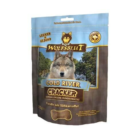 Wolfsblut Cold River Cracker mit Forelle & Süsskaroffel